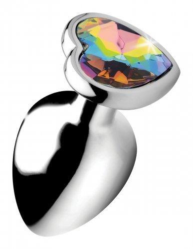 Rainbow Heart Butt Plug - Groß