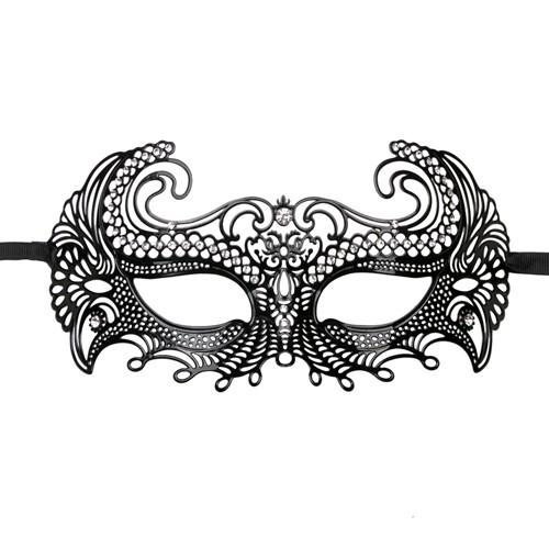 EasyToys – Venezianische Maske aus Metall in Schwarz