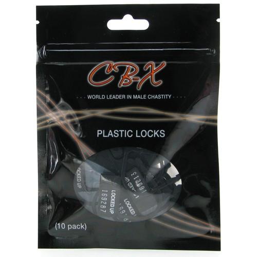 CB-X Vorhängeschlösser aus Kunststoff – 10 Stück