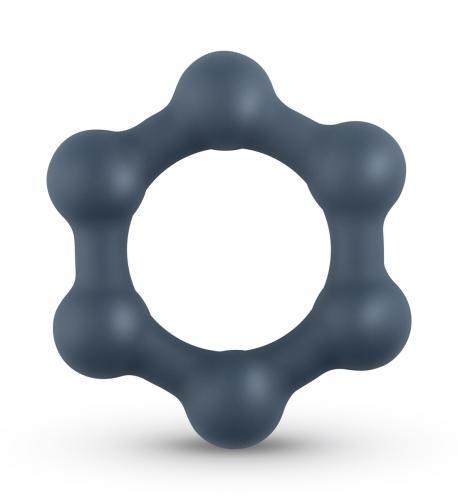 Hexagon Penisring mit Stahlkugeln